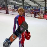 Rupert Cawte breaks the Snowboard Speed Record